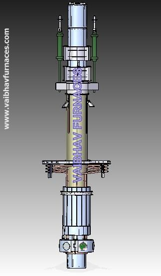 ELECTRODE COLUMN FOR SUBMERGED ARC FURNACE